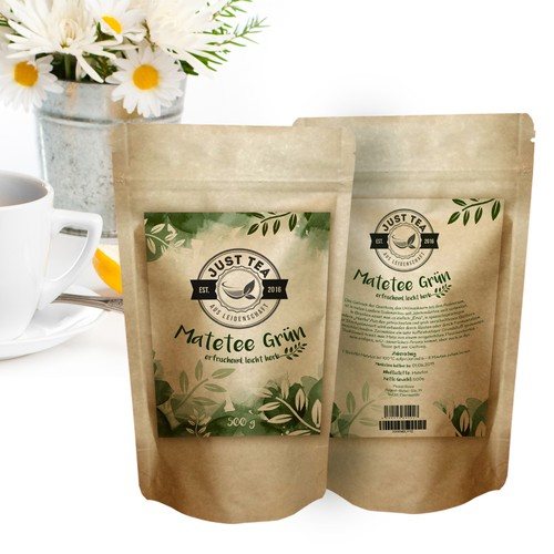 Natural style for tea package label!