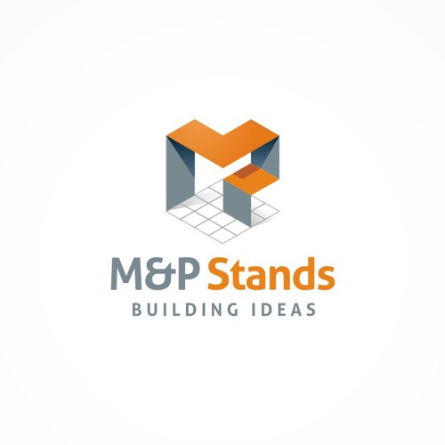 Modern logo for an exhibition design company