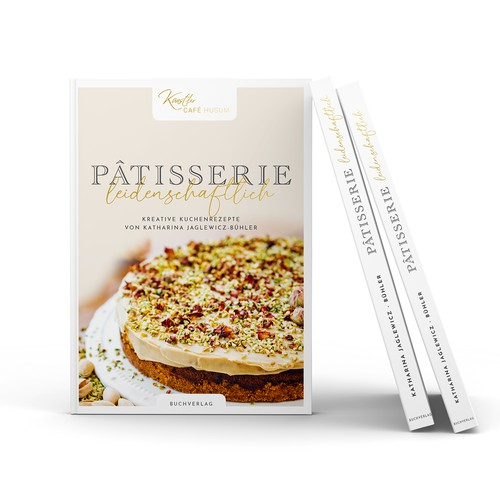 Book cover design for traditional pâtisserie recipes