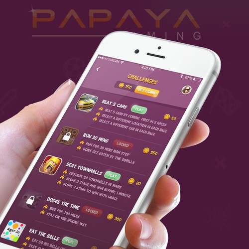 Gaming Platform App Design for iOS