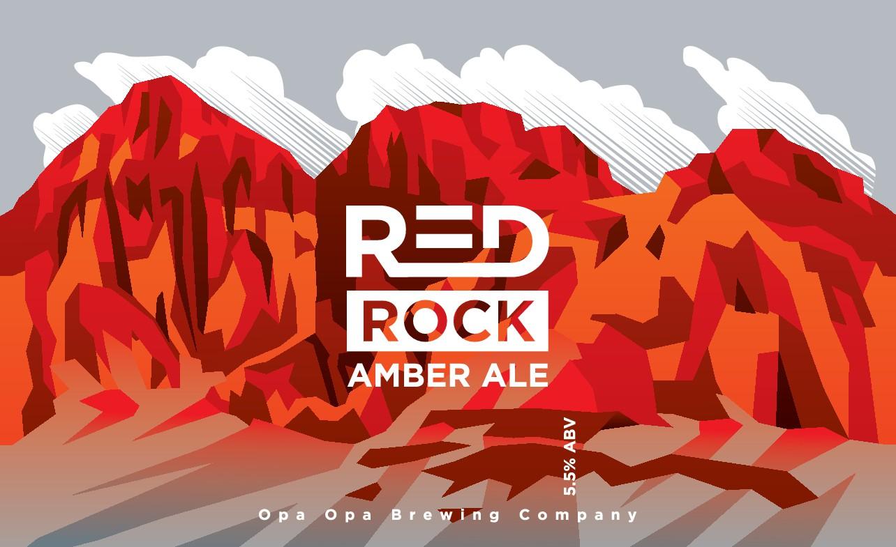 Red Rock Amber Beer Label
