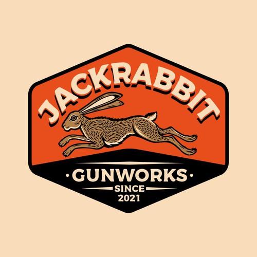 Jackrabbit Gunworks Logo Design
