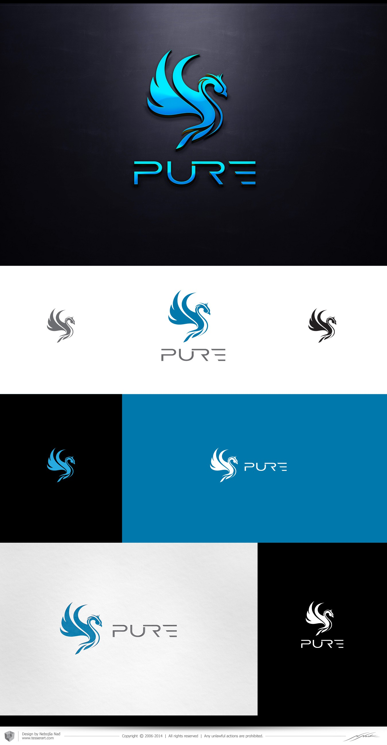 Logo for online videogaming community: PURE