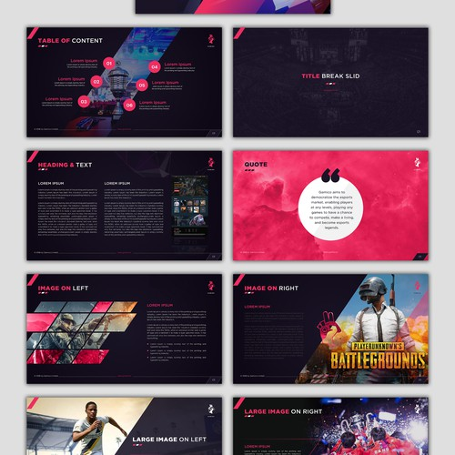 Powerful presentation template