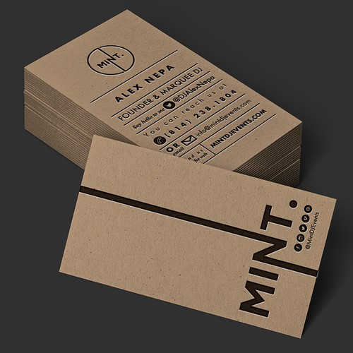 Business Card & Branding Design for Mint DJ Events