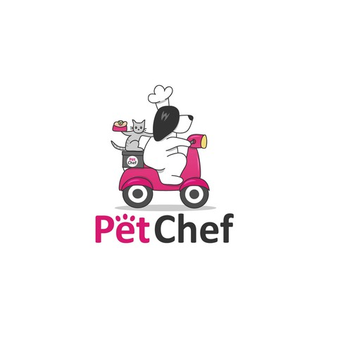 Logo for pet food delivery