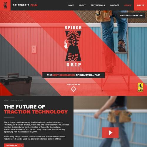 SpiderGrip Film website