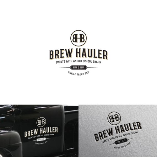 Logo for a vintage mobile truck bar