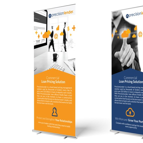 Trade Show Banner Design for Financial Software Company