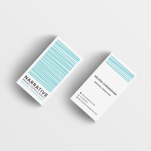 Business Card Design, Narrative Consultancy