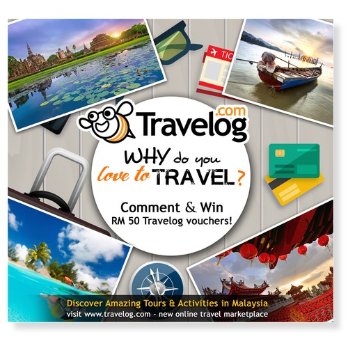 FB Contest banner for Travelog.com