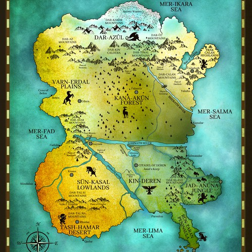 - Fantasy map - KINDERRA