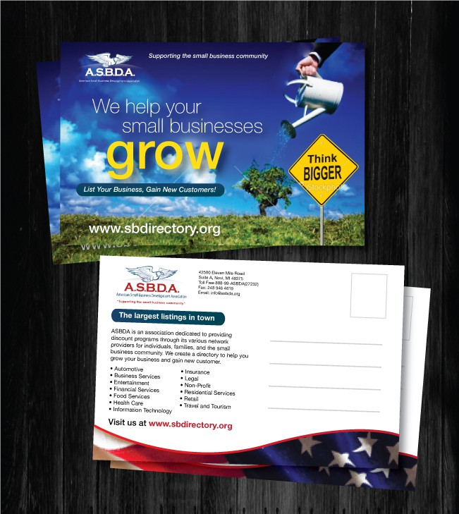 Help American Small Business Development Association with a new print or packaging design