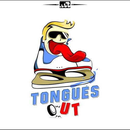 "Cartoon Character Logo ""Tongues Out"""