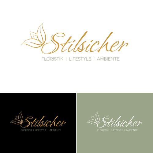 Logo concept for flower style shop