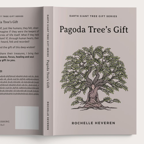 Pagoda Tree's Gift illustration, Book Cover and Essential Oil Bottle Sticker
