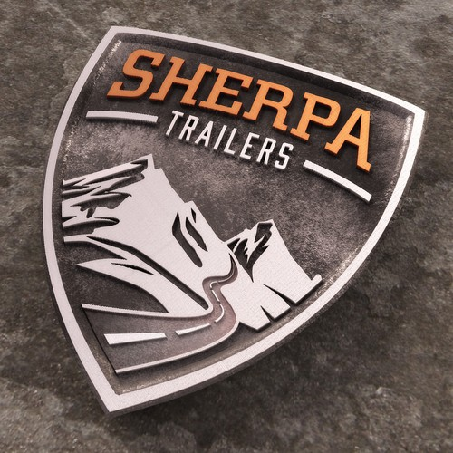 3D Logo for Sherpa Trailers