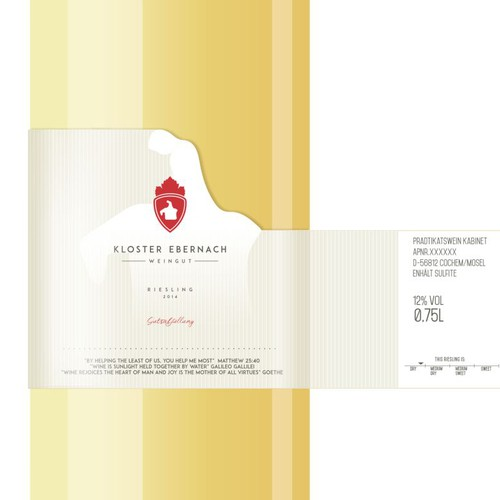 New modern wine label for innovative German winery