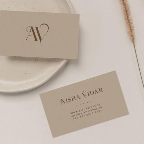 Personal card design for Aisha Vidar