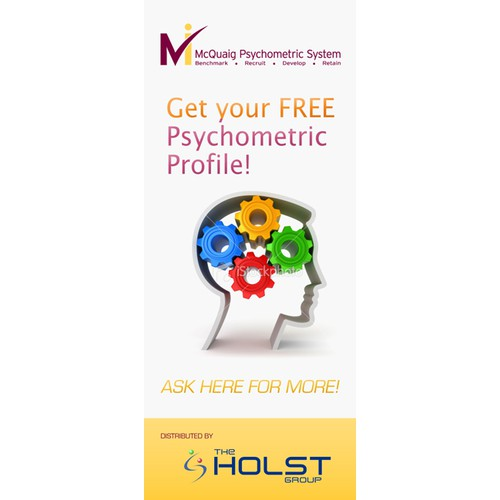 Pop-up banner stand for an exhibition for The Holst Group