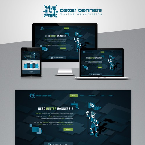 Home page design for Digital Banner agency