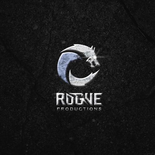 Bold wolf logo