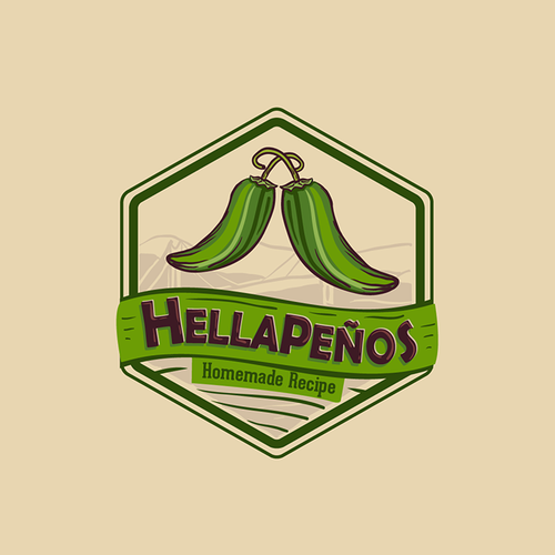 Emblem logo for a Homemade Brand of Pickled Jalapeños