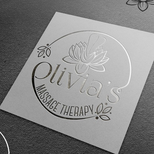 Elegant logo for massage therapy