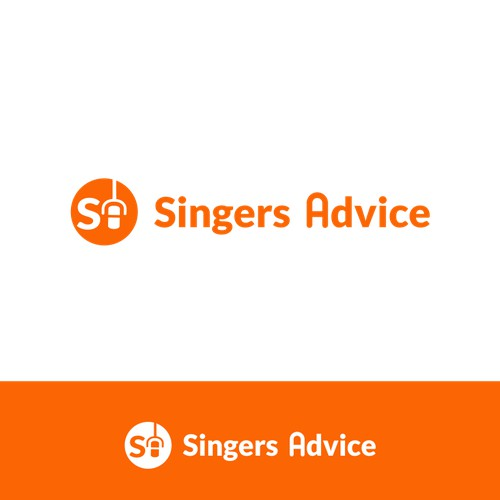 Create a dynamic, inspiring and eye catching logo for Singers Advice.