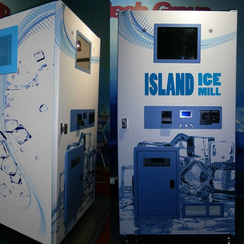 Vinyl wrap for a ice vending machine (applied)