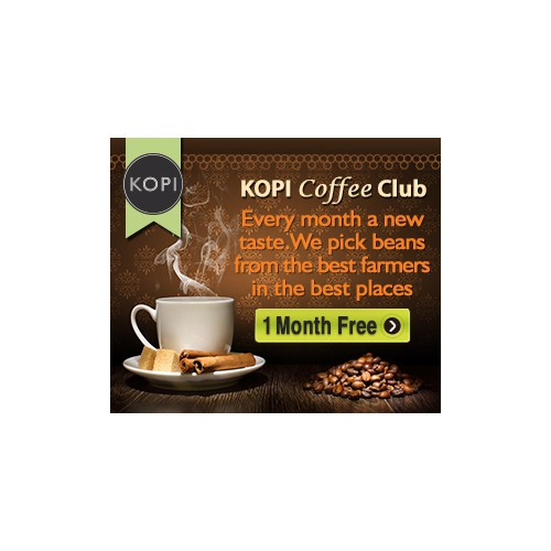 Display Ads for the brand new Kopi Coffee Explorer Club