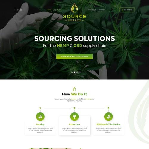 Marijuana website home page design