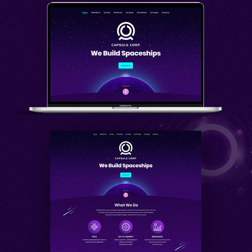Website for Capsule Corp (OnePage)