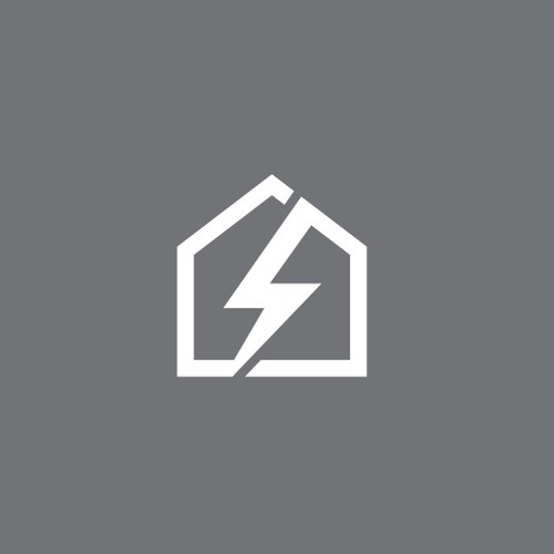 Simple, lightning bolt logo for self storage company