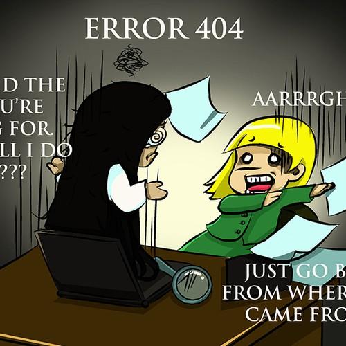 Error 404: Page not found! Make us smile. Make something memorable.
