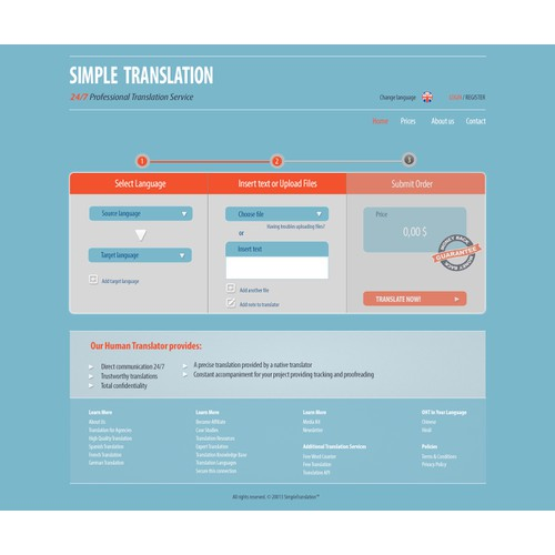 Create the next website design for simpletranslation.com
