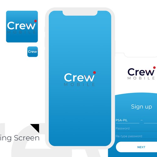 Mobile app and icon design for an airline company