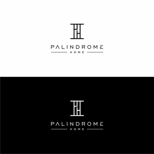 Luxury modern logo with reflective qualities for furniture company