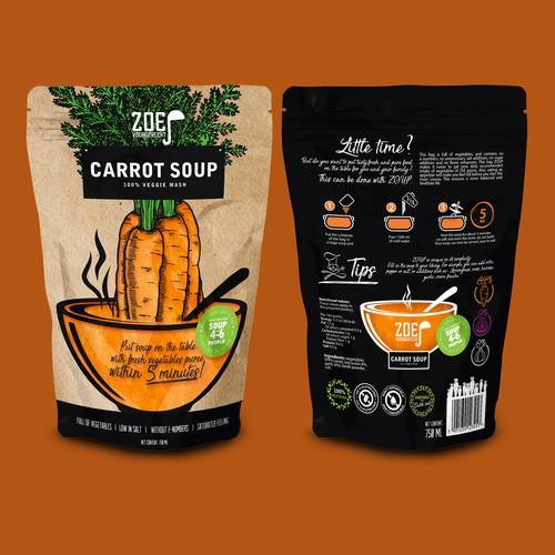 CARROT SOUP 100% Veggie mash