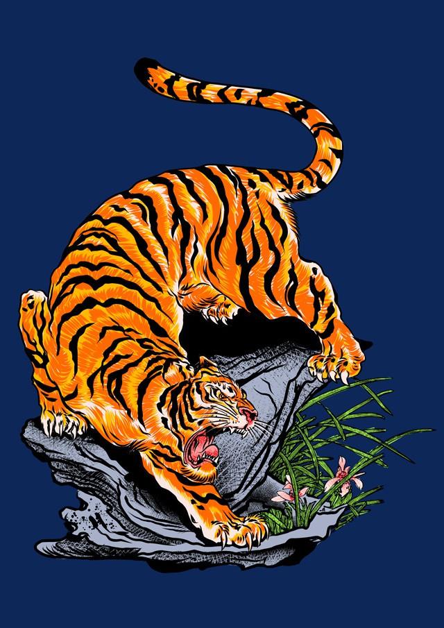 Japanese Tiger & Dragon Art Request