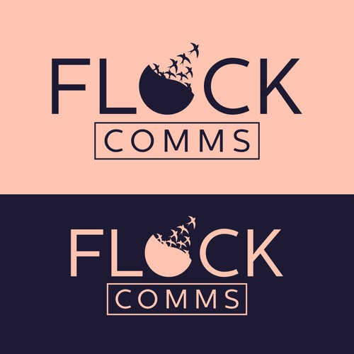 FLOCK COMMS Logo Concept