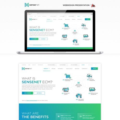 Sensenet website Design