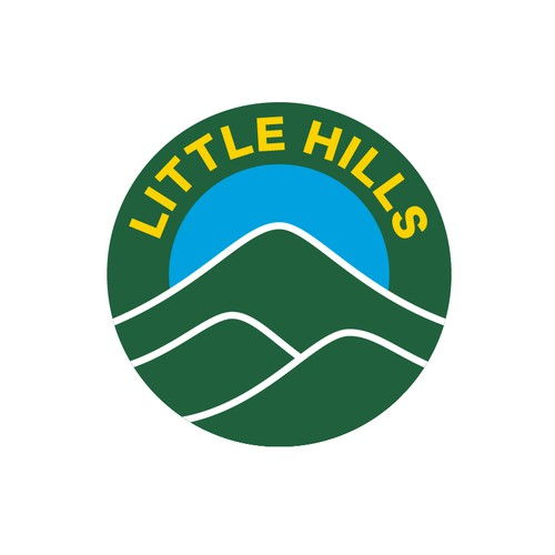 Little Hills logo with Rwandan flag colors.