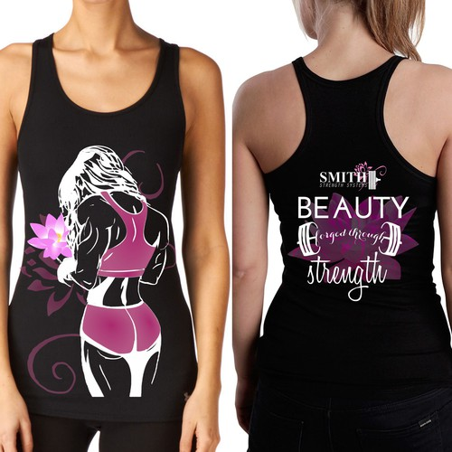 "Create a Women's ""Beauty Forged Through Strength"" Tank Top"