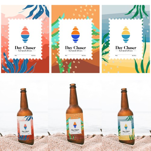 Logo and packaging for beverage company