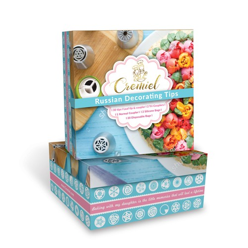 Package Design for Cake Decorating Nozzles Set