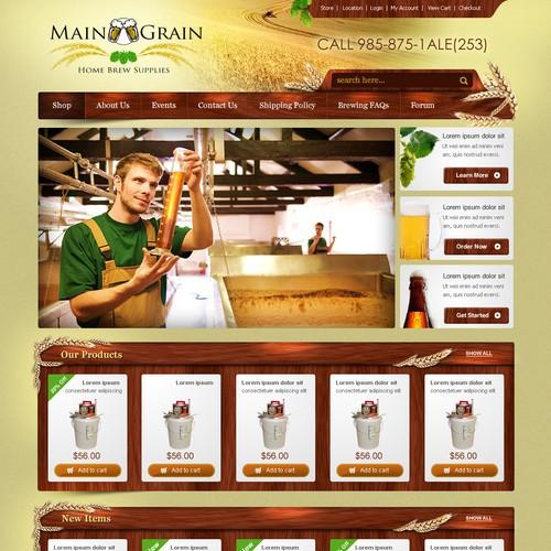 Website Design for Ecommerce Business - Brewing Equipment & Supplies Retailer