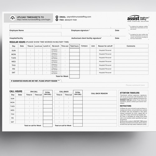 Form Design - Timesheet