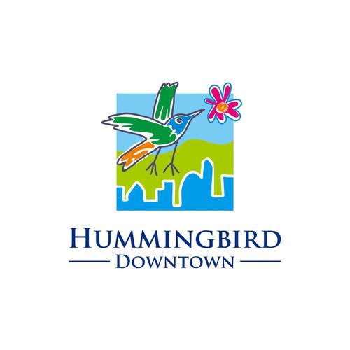 Hummingbird Downtown logo design