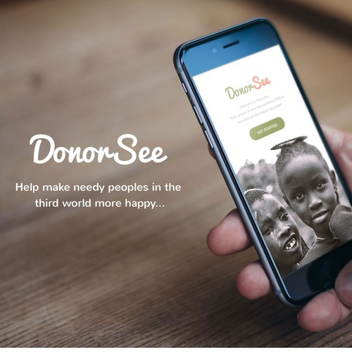 iOS App Design for DonorSee